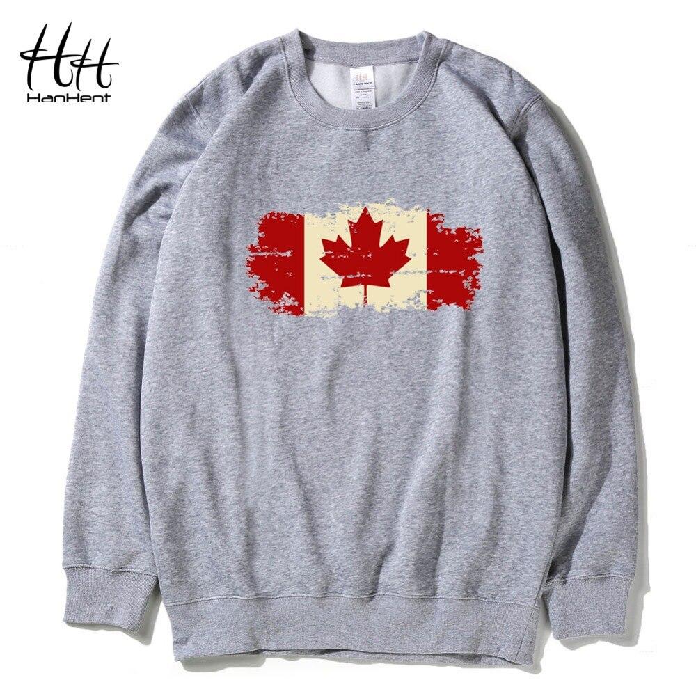 huge discount 438e5 719de US $19.08 50% di SCONTO|HanHent Canadese Foglia Felpe In Pile Da Uomo O  Collo Inverno Canada Bandiera Logo Abbigliamento Regalo Stampato Con  Cappuccio ...