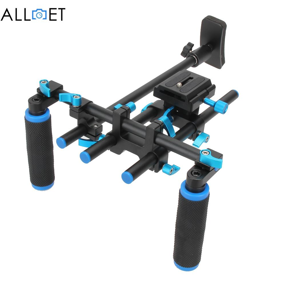 F14123 Commlite CS-V1Aluminum Alloy Handgrip Holder DSLR Shoulder Mount Rig Camera Stabilizer Dslr Rig Easy For Shooting Camera f14123 commlite cs v1aluminum alloy handgrip holder dslr shoulder mount rig camera stabilizer dslr rig easy for shooting camera
