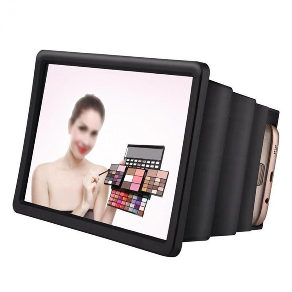 New Arrival Mobile Phone Gadget 3D Screen Magnifier Video Enlarge Stand Holder Foldable Phone Screen Amplifier Case