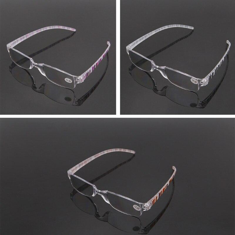 1.00 Black Unisex Fashion Plastic Full Rim Reading Glasses Reader Strength