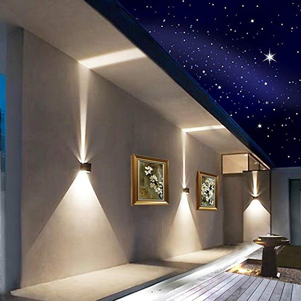 Xsky Sconce Wall Lights Modern 12W Wall Lamp Outdoor Waterproof IP65 Adjustable Indoor Wandlamp Bedroom Porch Garden Path Lamps