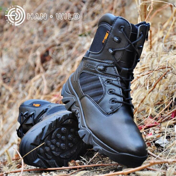 High Quality Brand Men Military Tactical Combat Boots 100% Genuine Leather Special Forces Desert Boats Male Outdoor Shoes