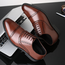 2018 Fashion Man Formal Shoes High Quality Breathable PU Leather Personality Men Business Dress Loafers Oxford Wedding Shoes