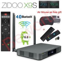 Zidoo x9 android 6.0 smart tv box 2 gb 16 gb realtek RTD1295 Quad-Core 2,4G/5,0G Wifi Bluetooth 4,0 HDMI IPTV Europe Media Player(China (Mainland))