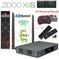 Zidoo x9s android 6.0 smart tv caja 2 gb 16 gb realtek RTD1295 Quad-Core 2.4G/5.0G Wifi Bluetooth 4.0 HDMI IPTV Europa Media jugador