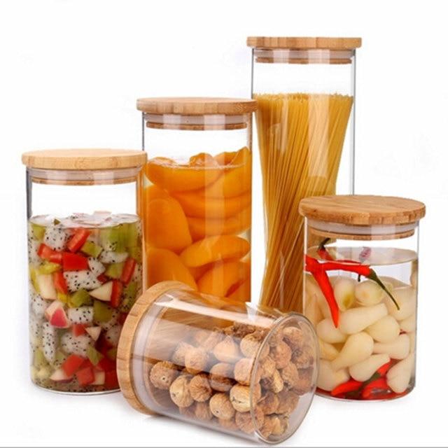 Home storage box Kitchen Tools Refrigerator Freshness Preservation Food Sealed jar kitchenware glass Jar