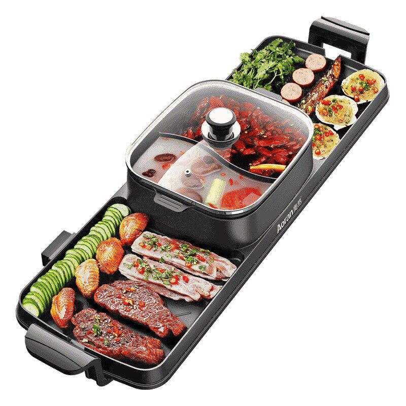 Nuevo horno de cocina integrado olla de doble Control coreano Multi Cocina eléctrica horno de horno barbacoa olla de sopa