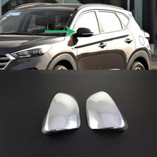 Car Accessories Exterior Decoration ABS Chrome Rearview Mirror Cover For Hyundai Tucson 2015 Car-styling