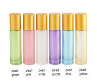 200pcs/lot Thick 10ml Glass Perfume Roll on Bottle with Stainless Steel/Glass Ball Roller Glass Essential Oil Bottle Travel Use