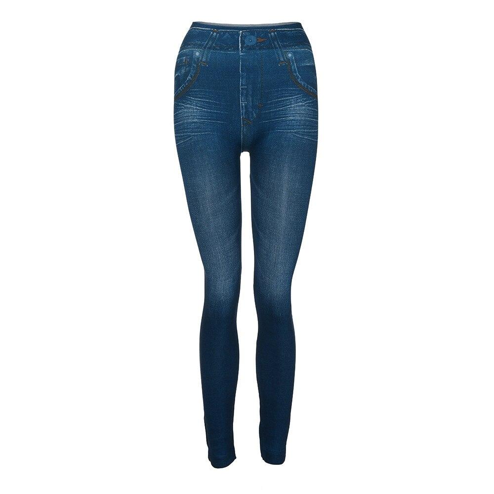 HTB1NQEUbcrrK1RjSspaq6AREXXac #40 Women's Leggings Casual Sexy Girls Leggings Pure Black Denim Trousers Pocket Slim Leggings Fitness Large Size Leggings Jeans