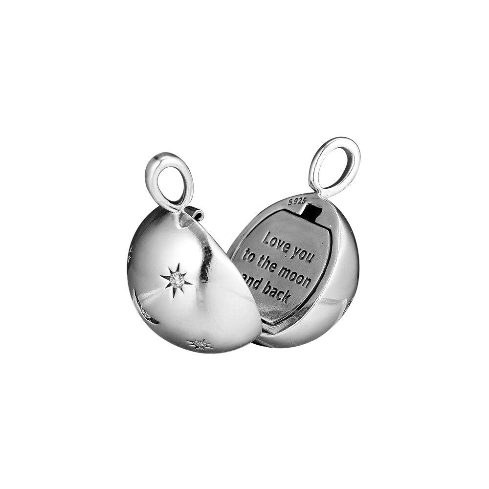 Image 4 - Ожерелье и кулоны CKK, ожерелье со звездами и луной, из стерлингового серебра 925 пробыПодвески