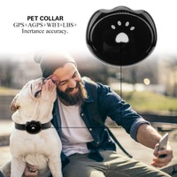 Smart Waterproof IP67 Dog collar Pet GPS AGPS LBS Tracker Collar For Dog Cat AGPS LBS SMS Positioning Geo Fence Track Device