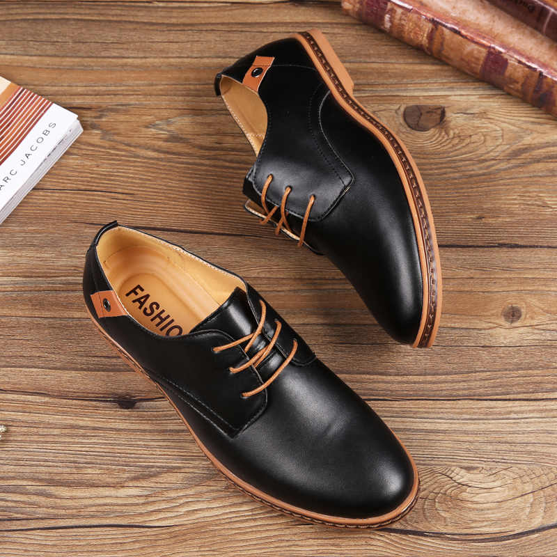 ... ROXDIA New Fashion Spring Autumn Men Flats Lace-up Casual Waterproof  Shoes Work Flat Driver ... 7f40279003b2