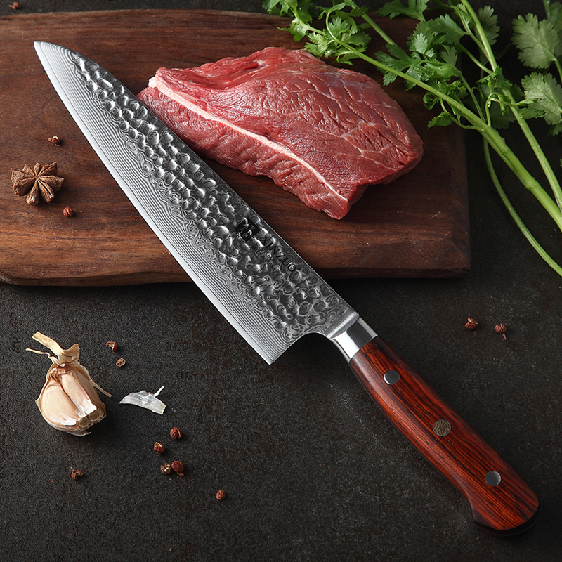 XINZUO 8 5 quot inch Chef Knife Japan Damascus Stainless Steel Sharp Kitchen Newarrive Santoku VG10 Gyuto Knives Rosewood Handle in Kitchen Knives from Home amp Garden
