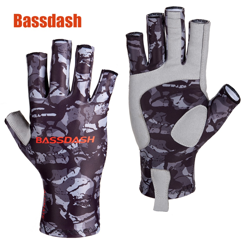 Bassdash ALTIMATE Sun Protection Fingerless Fishing Gloves UPF 50+ Mens Womens UV Gloves for Kayaking Paddling Hiking CyclingBassdash ALTIMATE Sun Protection Fingerless Fishing Gloves UPF 50+ Mens Womens UV Gloves for Kayaking Paddling Hiking Cycling