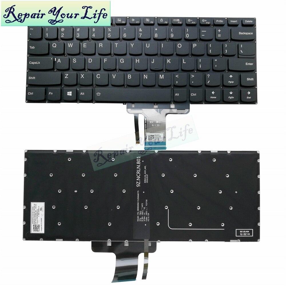 New Lenovo Flex 4-1435 Flex 4-1470 Flex 4-1480 Keyboard US Black Without Backlit