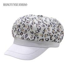 Female Leopard Hat Winter Women Print Caps Ladies Casual Beret Hats Woman Girls Fashion Cotton Baseball