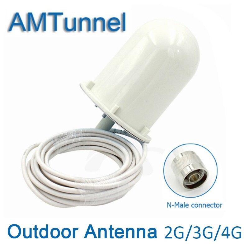 UMTS GSM LTE1800Mhz en plein air antenne externe antenne 8dBi avec N mâle connecteur WCDMA2100Mhz Omni antenne