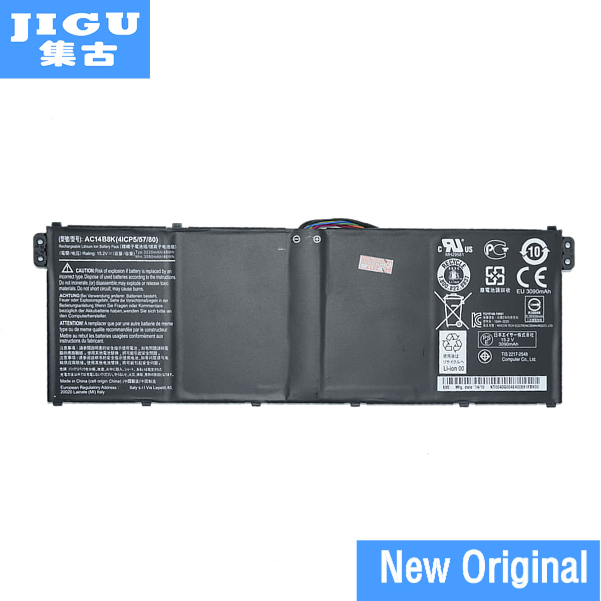 JIGU New Original 15.2V 48Wh Laptop Battery For Acer For Aspire V3 V3-371 V3-371-30FA AC14B8KJIGU New Original 15.2V 48Wh Laptop Battery For Acer For Aspire V3 V3-371 V3-371-30FA AC14B8K