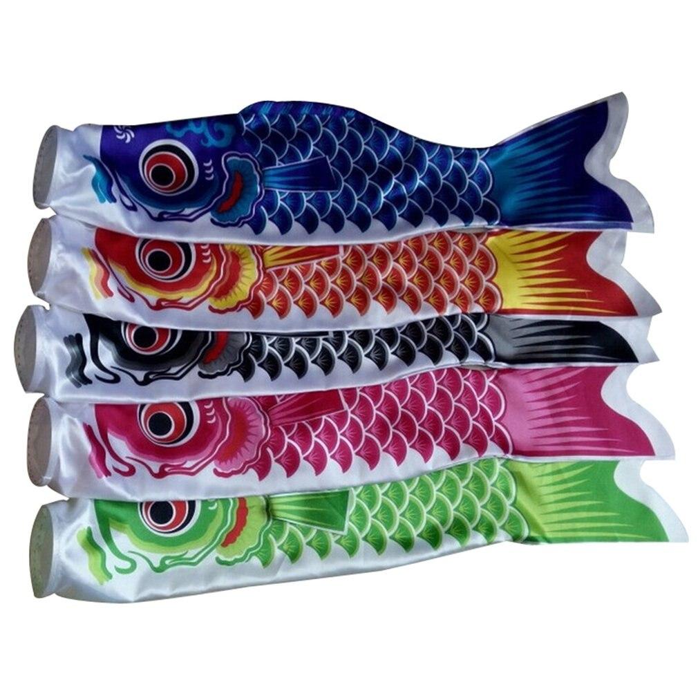 55 см Koi Nobori водонепроницаемый японский Карп Windsock стример висящий красочный декор с флагами воздушный змей Koinobori игрушки для детей