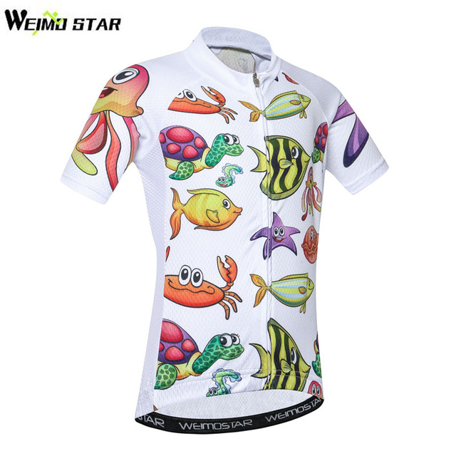 f527a4db9 Breathable Quick Dry Kids Cycling Jersey Tops Short Sleeve Children Bike  Clothing Boys Girls Bicycle Shirts