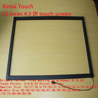 2 points of 15 inch IR touch screen / IR touch panel for touch table, kiosk etc