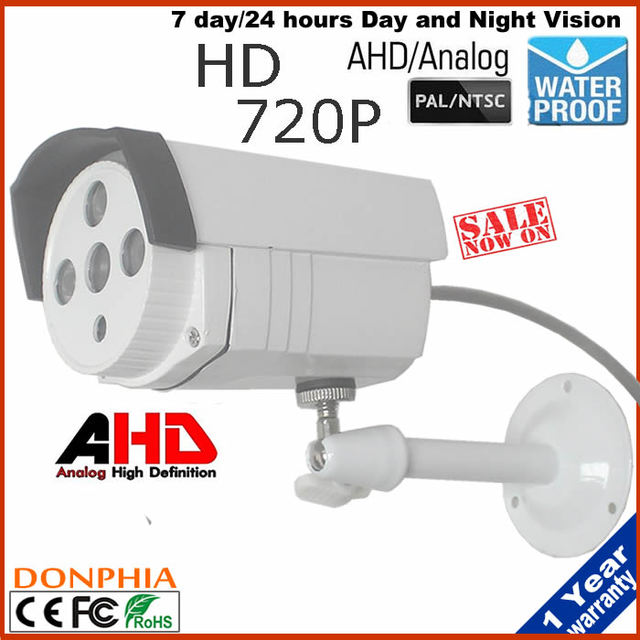 CCTV Cámara Impermeable Al Aire Libre 1/4 ''Sensor CMOS de 1.0MP 720 P AHD Bullet Cámara de Vigilancia de Seguridad CCTV IR Cut Filtro 3.6mm len