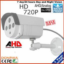 "CCTV Waterproof Outdoor Camera 1/4"" CMOS Sensor 1.0MP 720P Bullet AHD Camera CCTV Security Surveillance IR Cut Filter 3.6mm len"