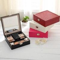 Storage box PU originality portable multifunction jewel case accessories Earings finger ring storage bags luggage organizer