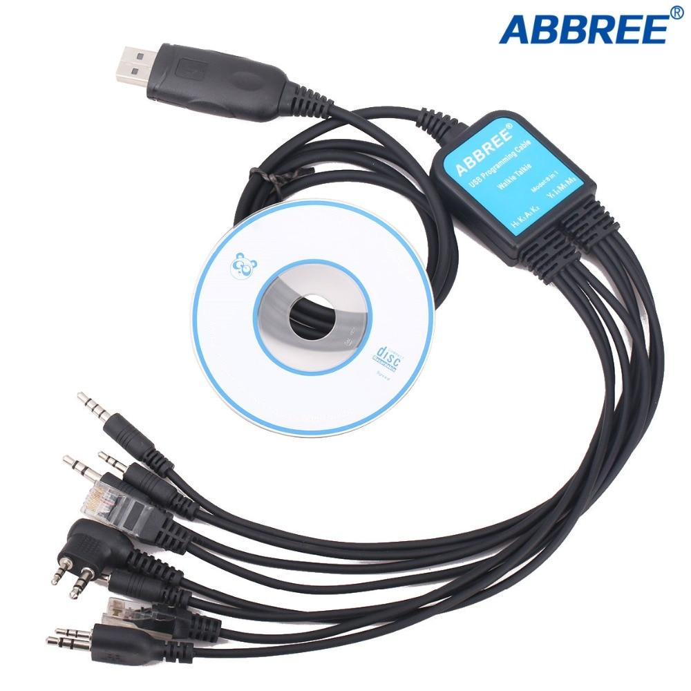 Abbree 8 in 1 Usb-programmierkabel für Baofeng UV5R UV82 888 S Für TYT Kenwood Motorola Yaesu Icom HYT walkie Talkie Auto Radio