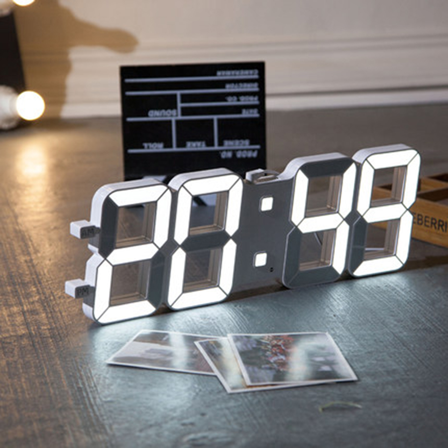 Led Electronic Wall Saatk Creative Remote Control Deco Salon Nixie Watch Decoration Hogar Saat Home Decoration Accessories 5B76