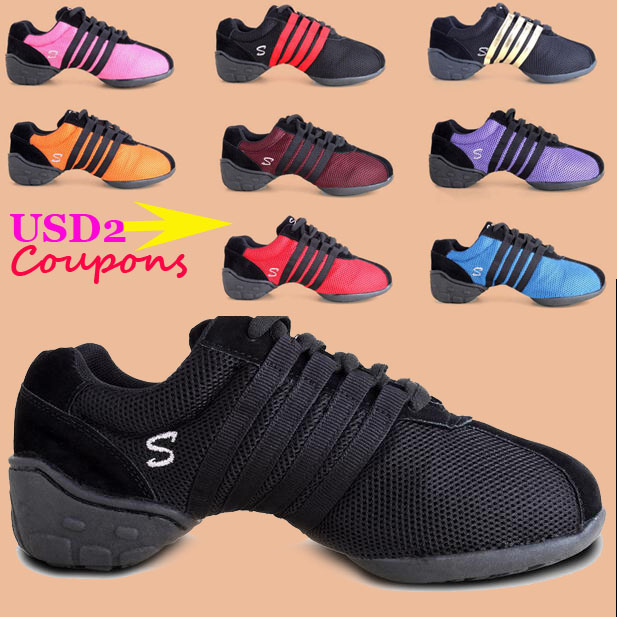Women Men New Brand Dance Sneakers Skor Svart Air Mesh Hip Hop Dance Sneaker Athletic Girls Sneakers Dance Skor För Kvinna