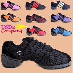 Zapatillas de baile de nueva marca para hombres y mujeres, zapatillas de deporte negras de malla de aire, de Hip Hop, zapatillas deportivas para niñas, zapatillas de baile para mujer