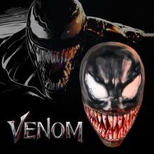 2018 Movie Venom Edward Eddie Brock Cosplay Masks Full Head Face Latex Creepy Blood Teeth Scary