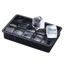 15 Hole DIY Creative Big Ice Cube Mold Square Shape Silicone Ice Tray Fruit Ice Cube Maker Bar Kitchen Accessories