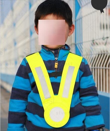 Simples estilo de jardim de infância das crianças colete de segurança refletivo