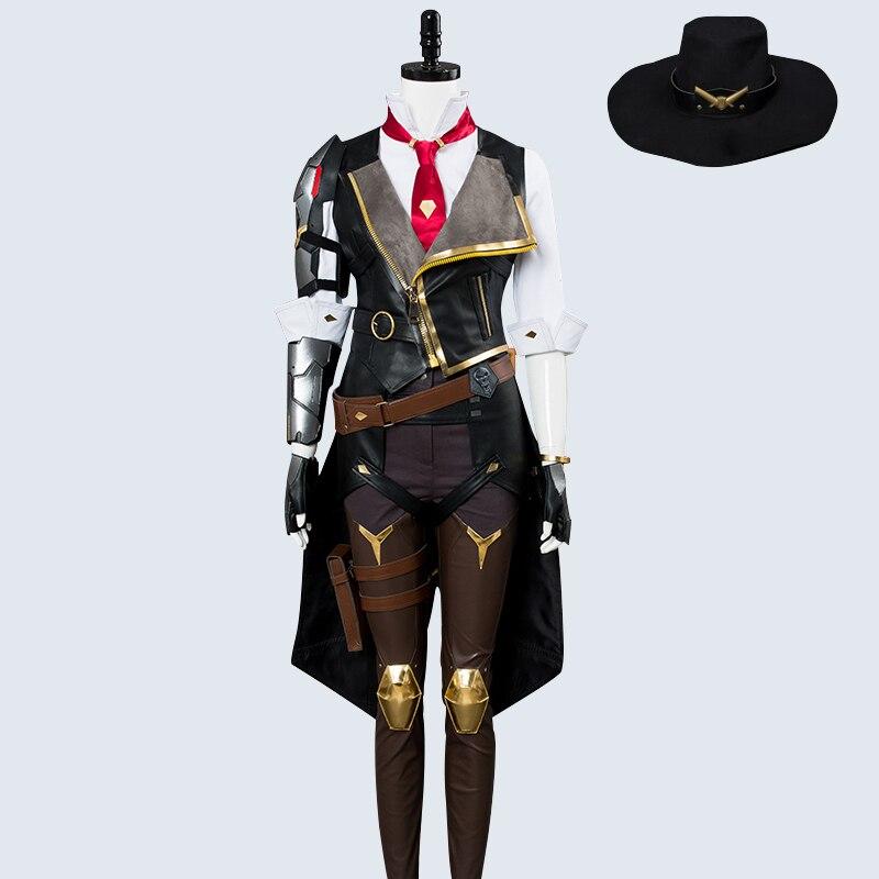 Overwatch OW Reaper Adult Men/'s Full Set Uniform Cosplay Costume Halloween