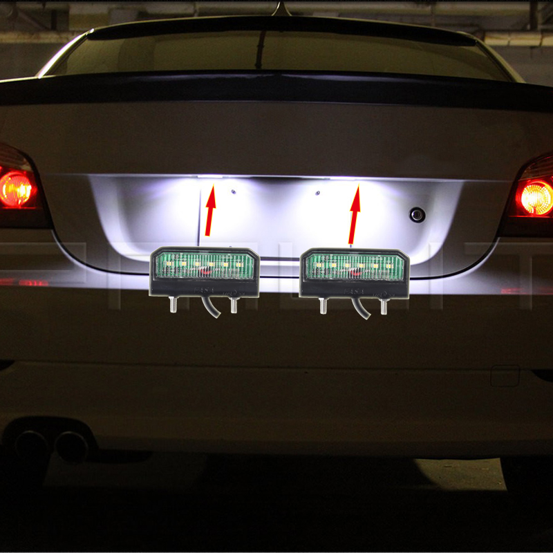 Image 5 - 1 piece LED Waterproof License Plate Light 12 24V Shock Resistant Number Plate Lamp for Truck Trailer Motorcycle LED Lights-in License Plate from Automobiles & Motorcycles