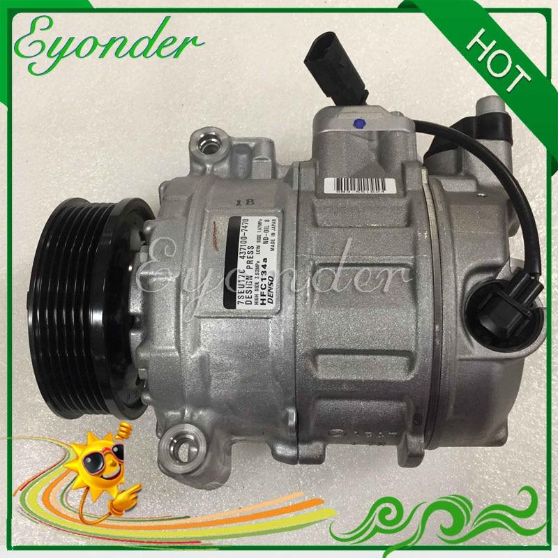 Original AC A/C Air Conditioning Compressor Cooling Pump for VW Volkswagen AMAROK T5 MULTIVAN V TRANSPORTER CARAVELLE Bus 2.0