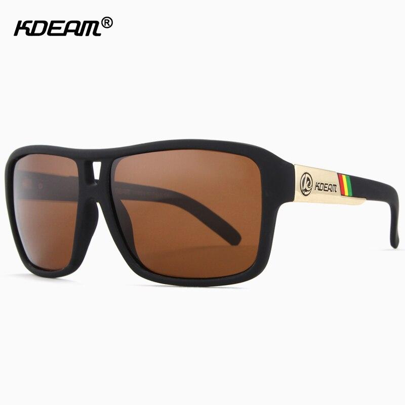 KDEAM Polarized Sunglasses Men Sport Glasses Squared