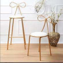 цена Nordic iron art bar chair chair creative bar high stool simple leisur онлайн в 2017 году