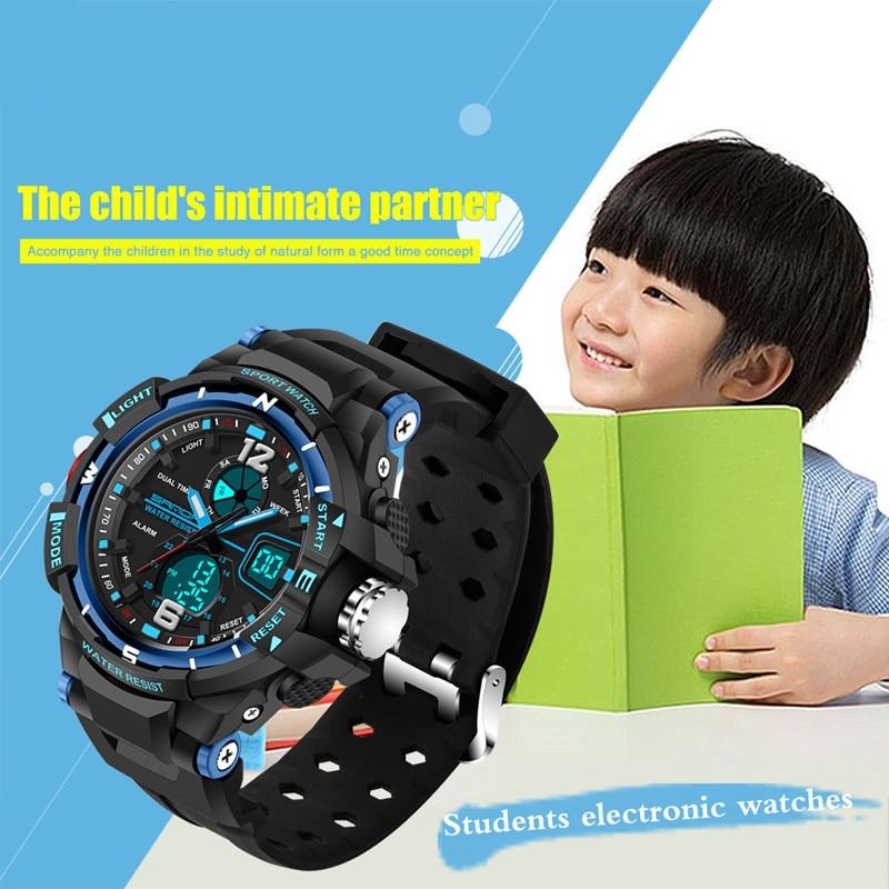 Nowa marka moda SANDA dzieci zegarek sportowy zegarek LED cyfrowy - Zegarki dziecięce - Zdjęcie 2
