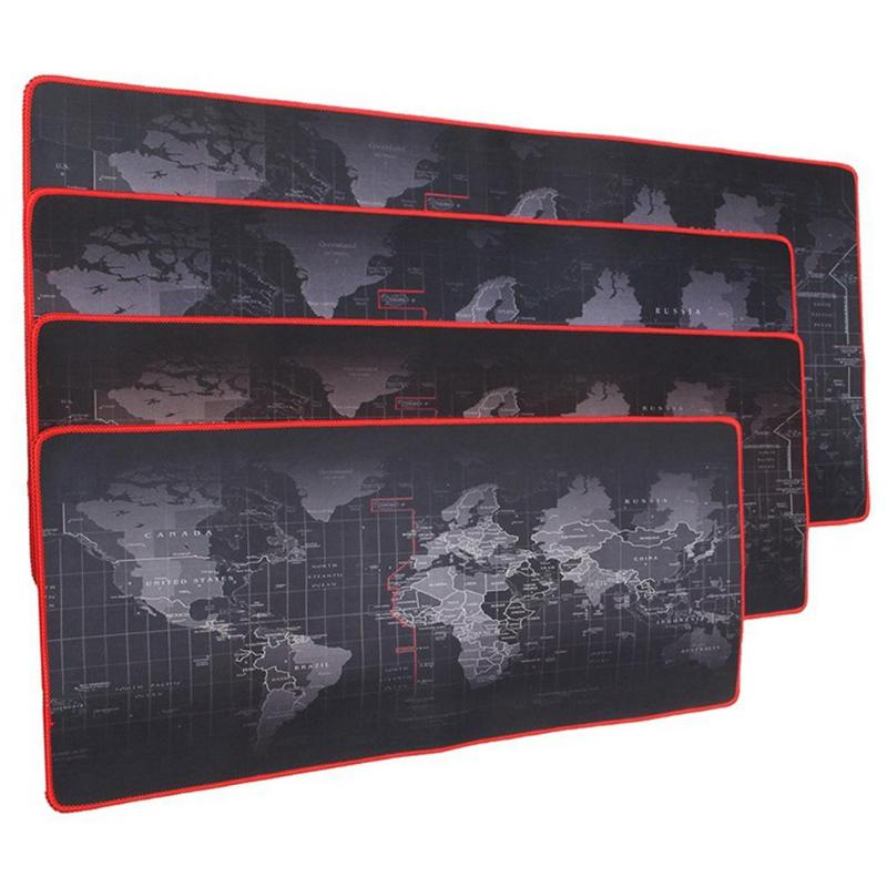 World Map Extra Large Mouse Pad Mat Natural Rubber Desktop Gaming Mousepad Large Mouse Pad Keyboard Desk Mat Rubber Surface