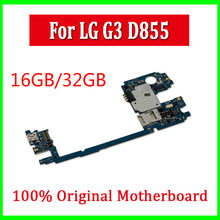 16GB 32GB for LG G3 D855 Motherboard With Android System Original Unlocked for LG G3 D855 mainboard Europe Version With Chips(China)