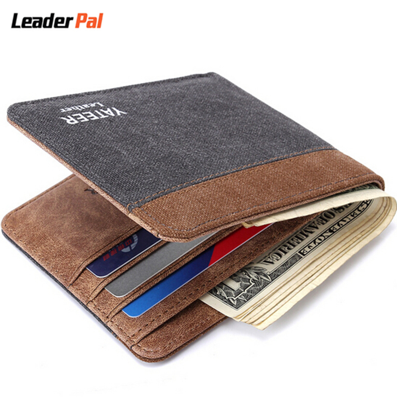 Men Wallets Famous Brand Denim Ultra Thin Wallet High ...