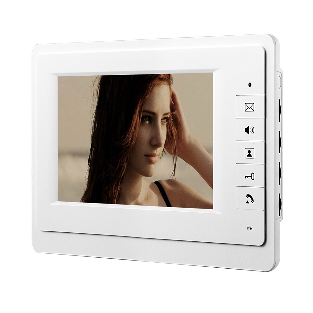 7 TFT LCD Screen US Plug R CMOS Camera Video Door Phone Indoor Monitor Visual Intercom Doorbell System Rain-proof 7inch video door phone intercom system for 5apartment tft lcd screen 5 flat indoor monitor with night vision cmos outdoor camera