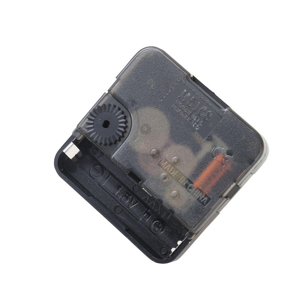 Практичные DIY часы черные бесшумные кварцевые настенные часы DIY ремонт стежков и винтовая прокладка механизм вращения шпинделя часть