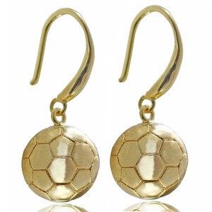 Gold-color Football Drop Earri