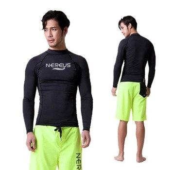 3b27f3942cb3 Traje de baño para hombre surf camiseta rashguard protección solar traje de  buceo para snorkeling windsurf traje de rendimiento de buceo libre de agua  ...