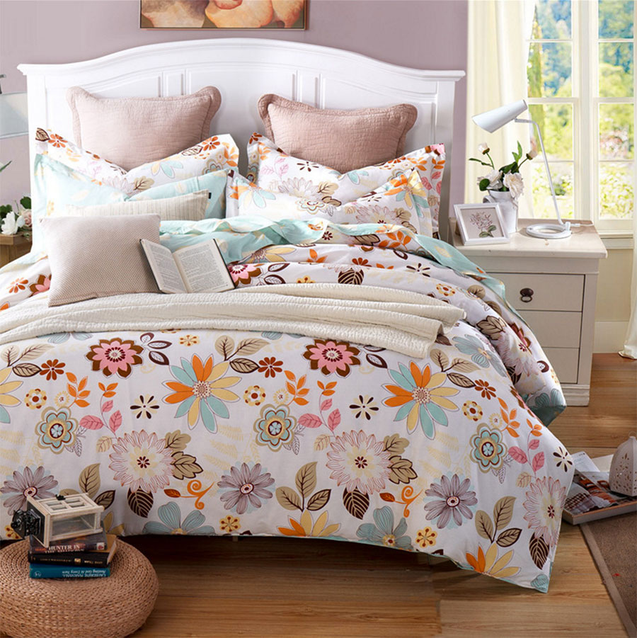 Colorful flower bedding - Colorful Flower Bedding Colorful Flower Bedding Colorful Flower Double Bedding Sets Girl Adult Cotton Lovely